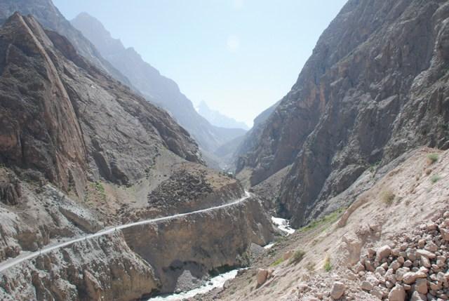 The roads in Tajikistan.