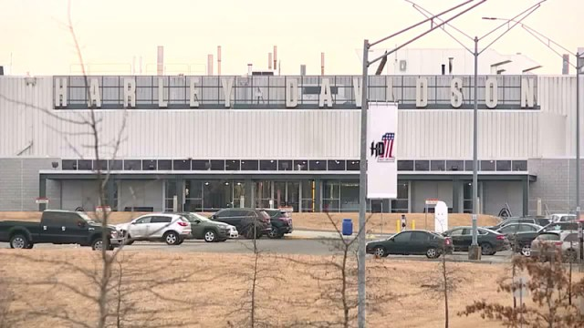 Harley-Davidson's Kansas City plant. Photo courtesy of FOX4.