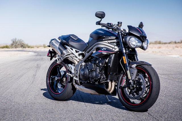 2018 Triumph Speed Triple RS in Matte Jet Black