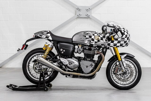 Triumph Thruxton R customized by D*Face.