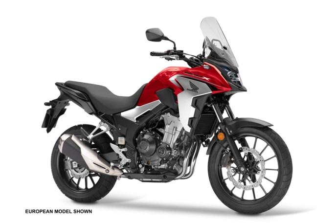 2019 Honda CB500X. Image courtesy Honda.