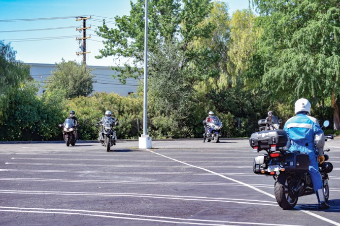 """This """"slow race"""" broke out after lunch with fellow riders and was just for fun. But it's actually a great way to build skills."""