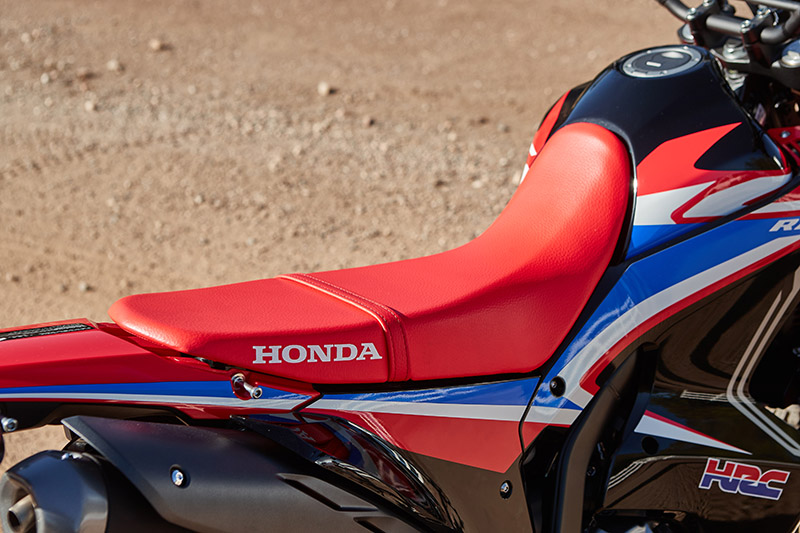 2021 Honda CRF300L Rally review seat