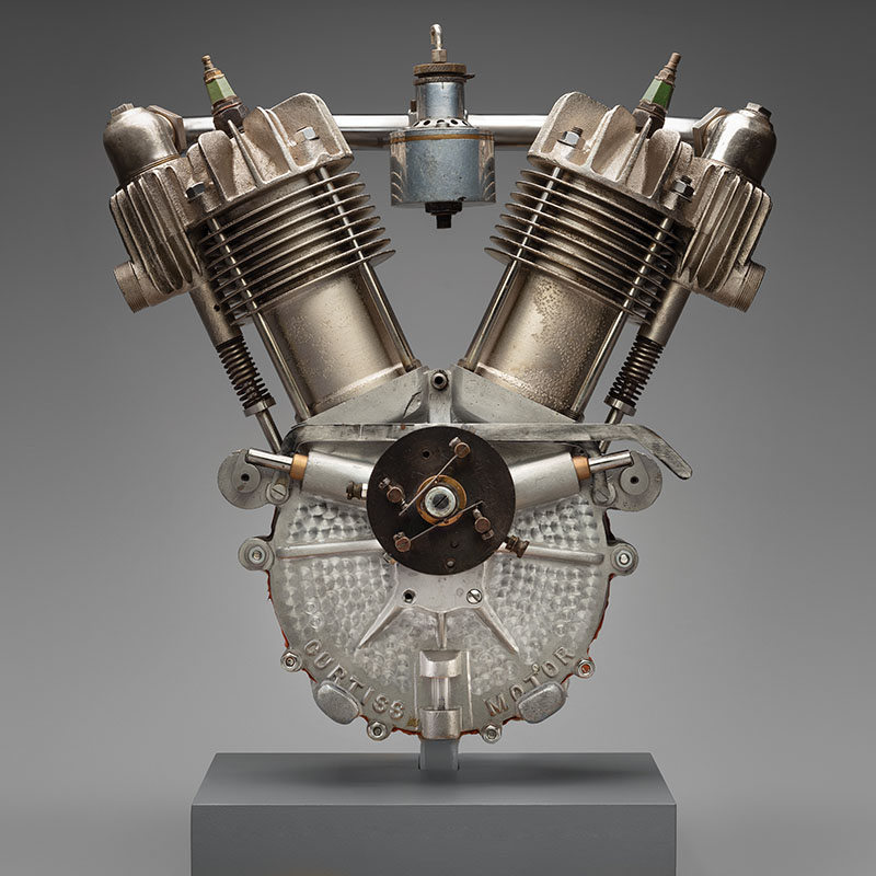 SFO Museum Early American Motorcycles Curtiss V-twin