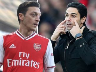 Mesut Ozil masuk starting-up Mikel Arteta