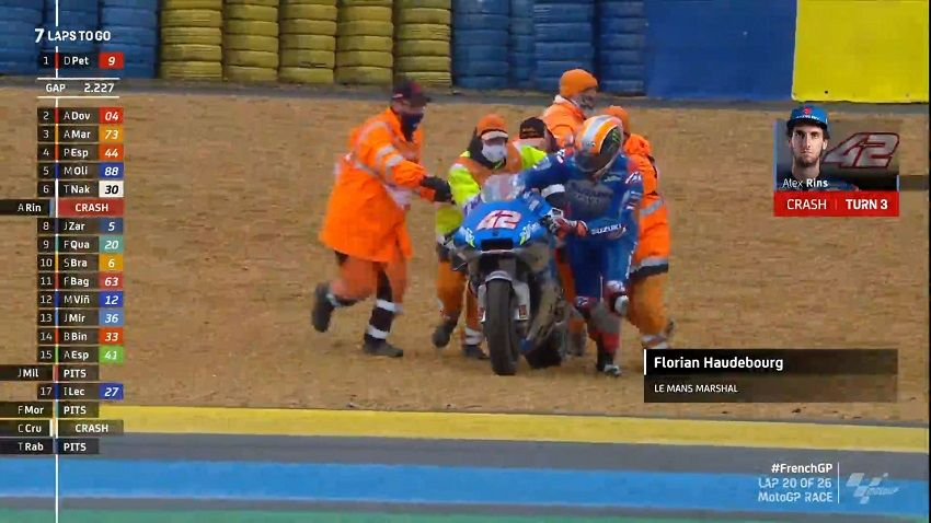 Rins Crash Le Mans