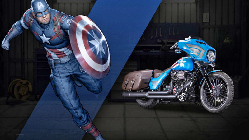 Captain America Street Glide® Special Freedom