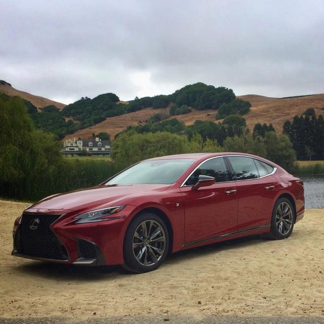 The Lexus LS500 with Skywalker Ranch in the background lexususahellip