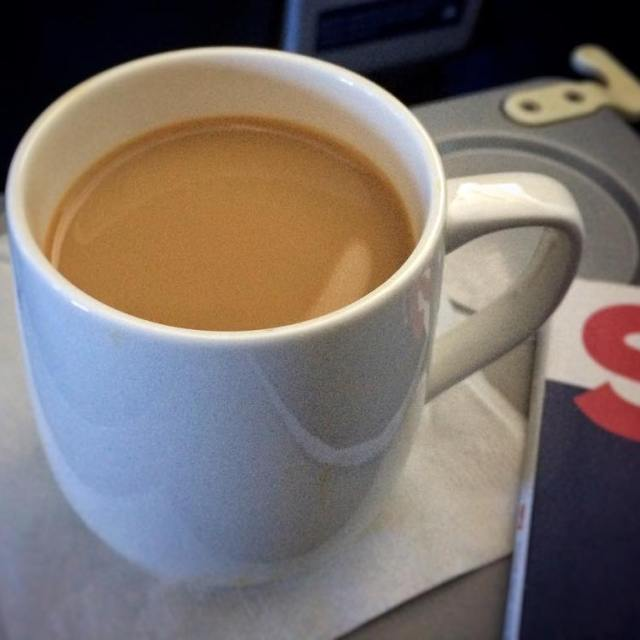 First Class upgrade Coffee with Baileys I could get usedhellip
