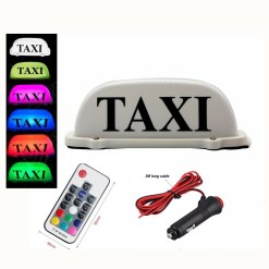 Waterproof Car Roof Top Taxi LED Light Cab Topper Taxi Sign Indicator Lights Lamp White