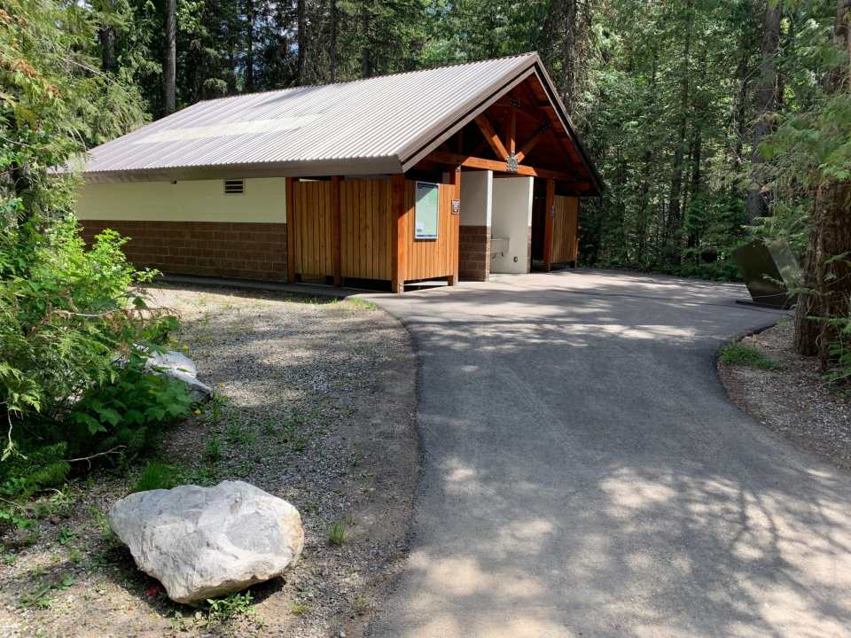 shower building - Mount Fernie Provincial Park Campground review
