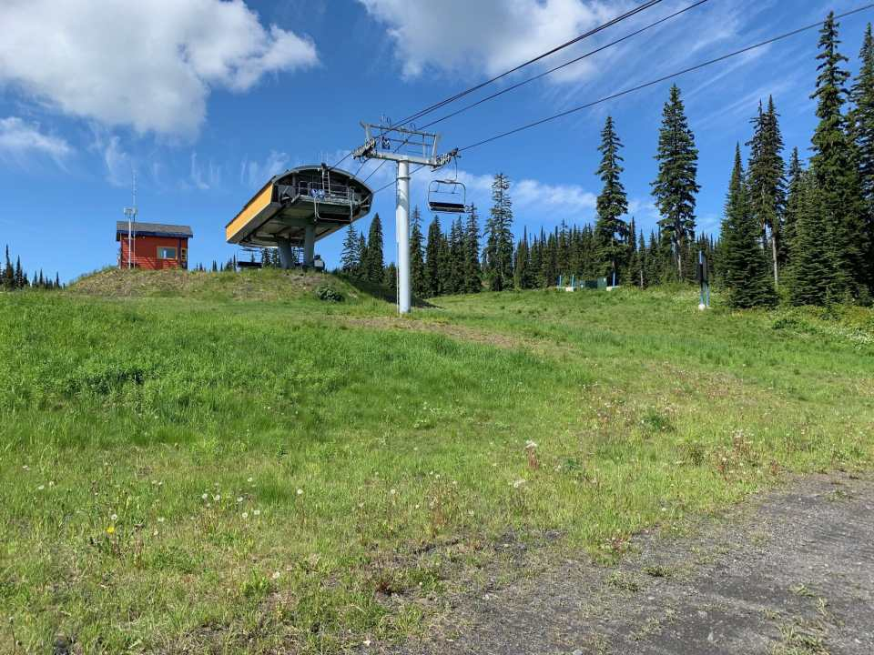 The Paradise Chair as seen from the Beowulf Loop at SilverStar Mountain Resort