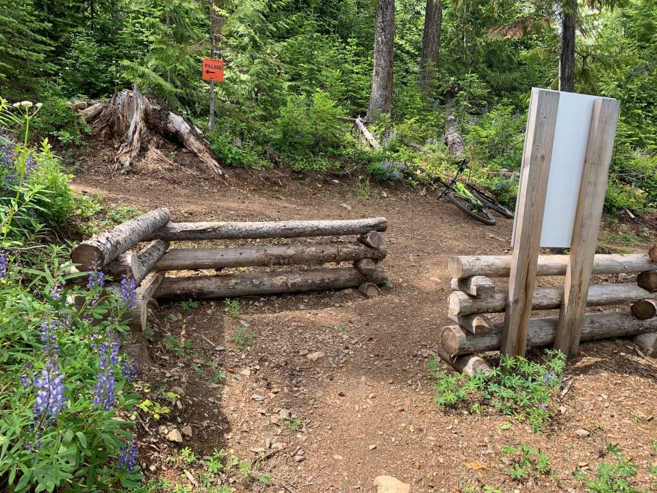 the gate at the top of the Beowulf trail climb