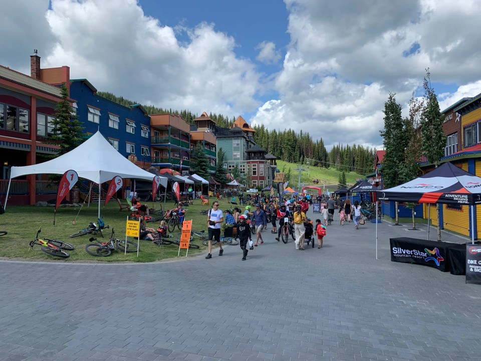 SilverStar Village during the 2018 Canada Cup DH mountain bike race