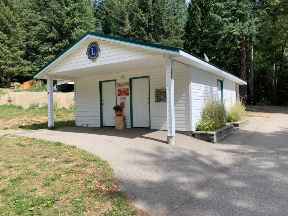 Rossland Lions Community Campground bathhouse