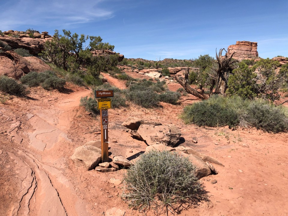 The Hymasa trail near Moab, Utah
