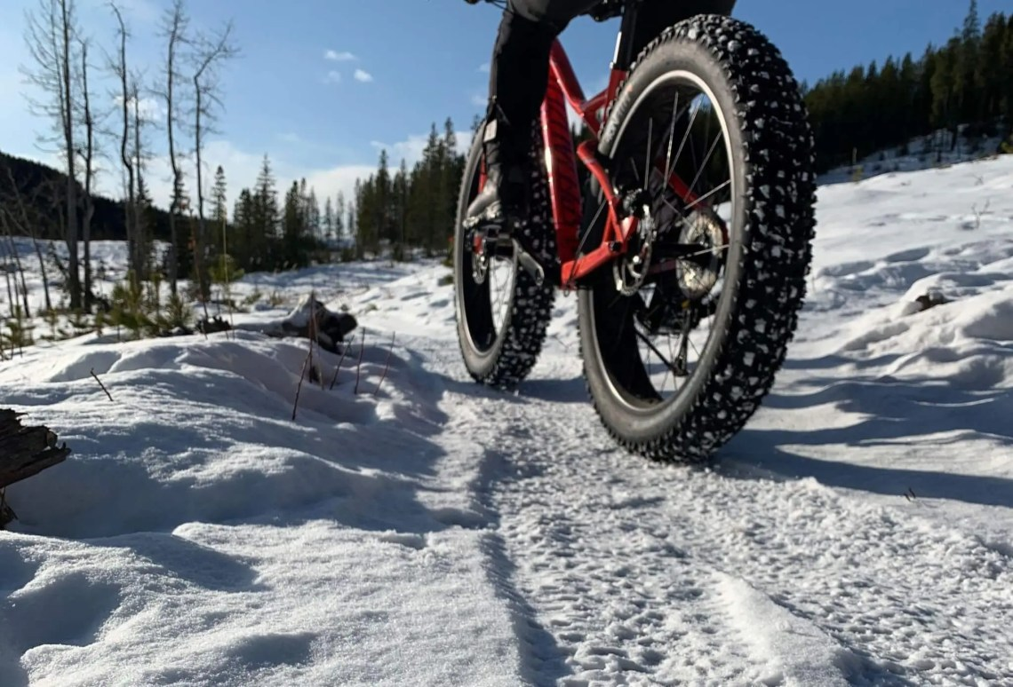 fat biking is a great winter cycling activity