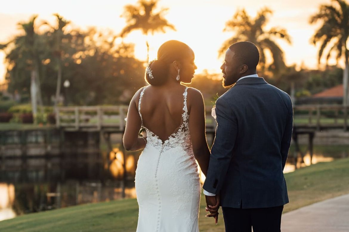 Orlando Wedding Couples Sunset