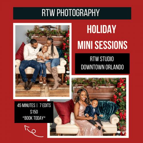 orlando studio holiday photography session
