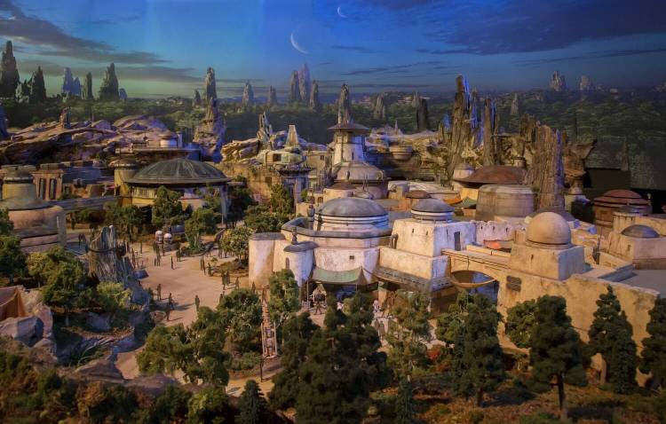 STAR WARS THEMED LAND MODEL AT D23 EXPO
