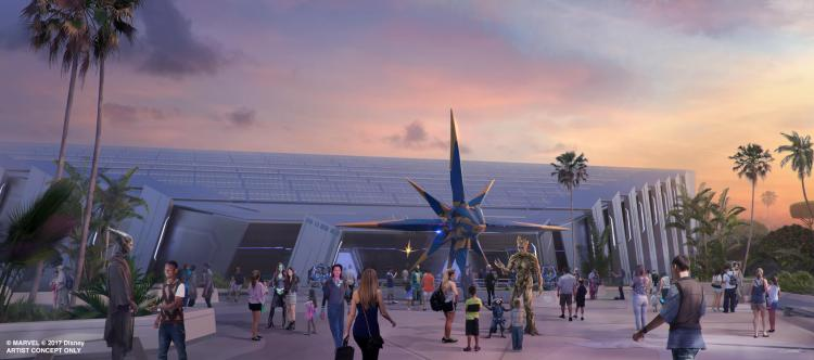 Guardians of the Galaxy Attraction Concept Art