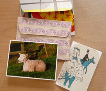 Hand made cards + envelopes