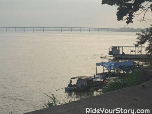 Bridge along Tonle Sekong River, joins the Mekong River. This bridge takes you to the Laos border.