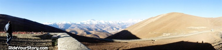 viewpoint of the Himalaya along the route