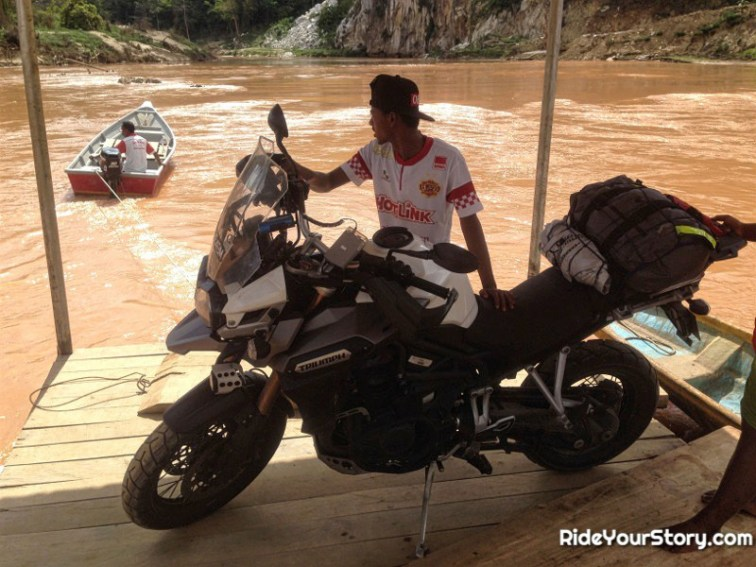 A relieving view and a pleasant ride across the river