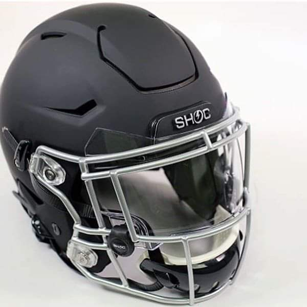 SHOC ZeroG visor mounted on helmet