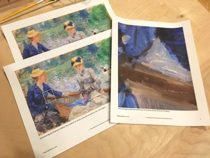 Morisot paints it on thick
