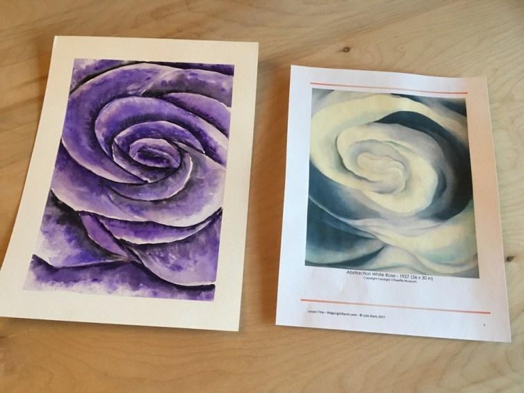 Abstration Purple Rose like Okeeffe