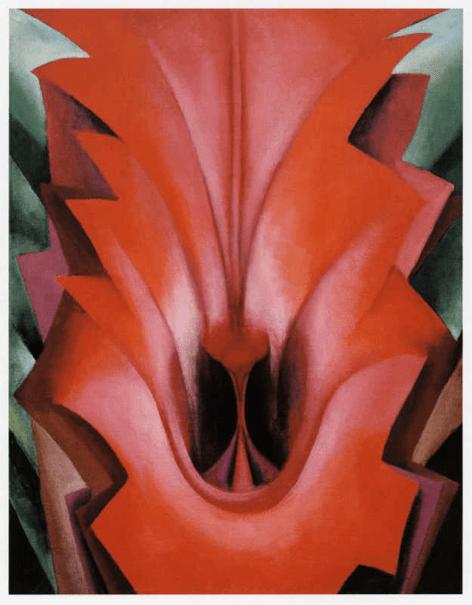 Georgia_O'Keeffe_Inside_Red_Canna_1919