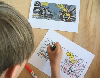 Lichtenstein art lesson