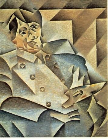 Cubism example: Juan Gris' Portrait of Picasso