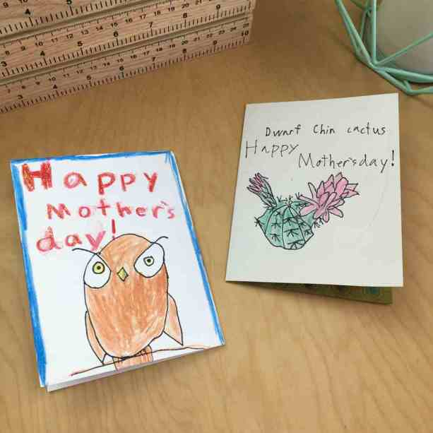 Kids cards for Mother's Day