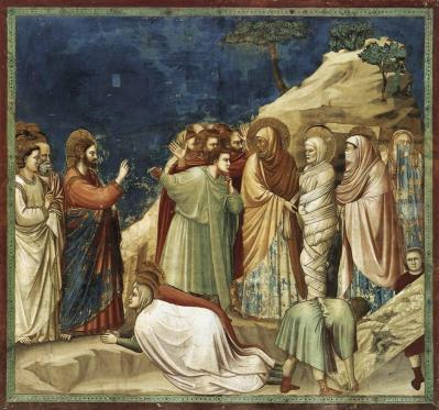 Giotto di Bondone- Life of Christ- Raising of Lazarus