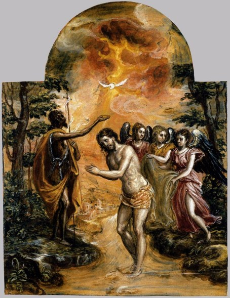 Baptism of Christ in Modera Triptych- web