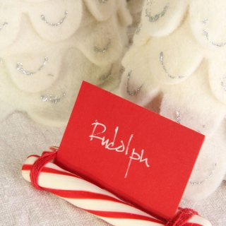 DIY Candy Cane Place Cards