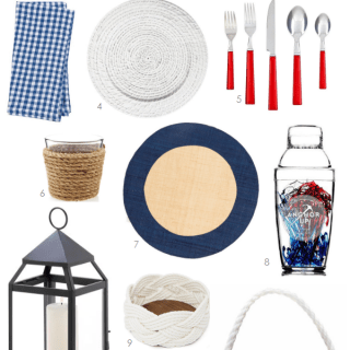 Setting the Table: Red, White and Blue