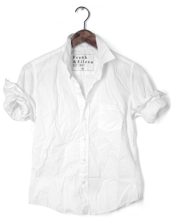 Ridgely Brode shares her favorite white shirt that she wears on the weekends on her blog, Ridgely's Radar.