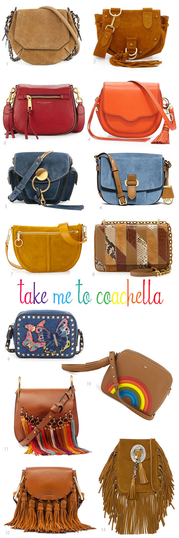 Take Me To Coachella | 13 crossbody Bags | Ridgely's Radar