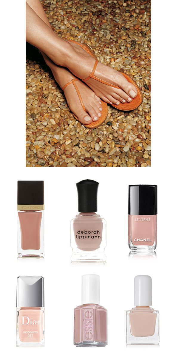 Ridgely Brode is looking for the perfect Nude Nail Polish for her toes on her blog Ridgely's Radar