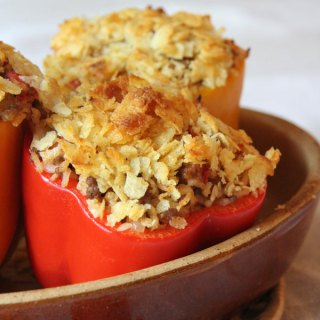 Stuffed Peppers with Sausage and Beef (Gluten Free)