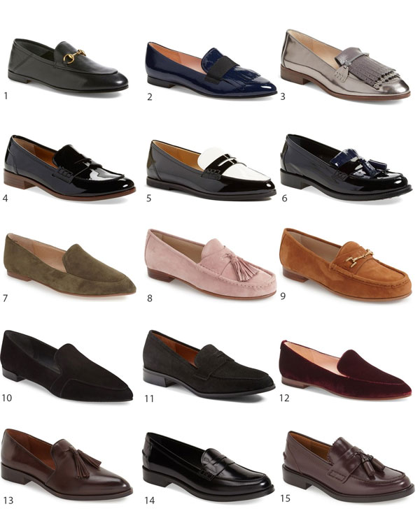 Lifestyle Blogger Ridgely Brode of Ridgely's Radar has her eye on 15 loafers for everyday wear