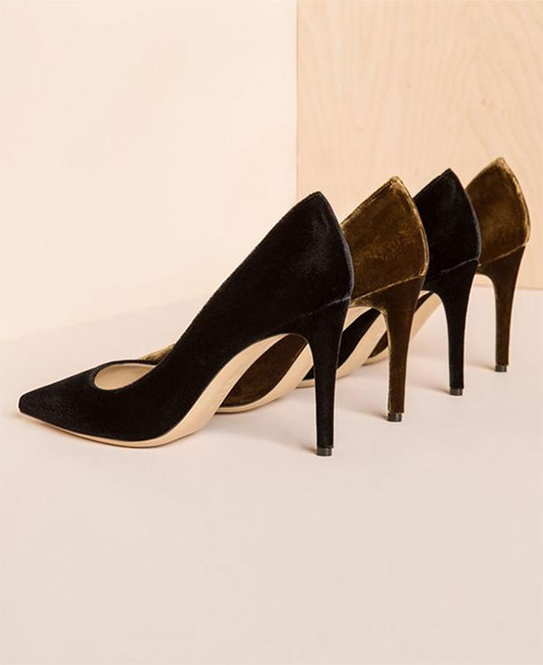 The Esatto | M. Gemi the perfect high heeled velvet pumps!