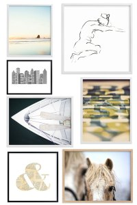 Creating a Gallery Wall is Very Easy to do with Minted