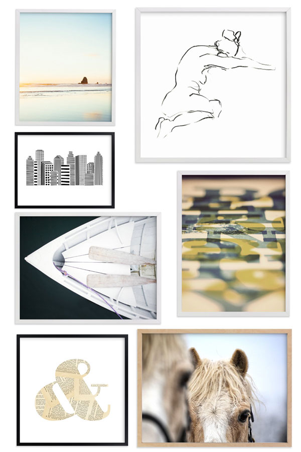 Blogger Ridgely Brode from Ridgely's Radar selects prins from Minted for a Gallery Wall