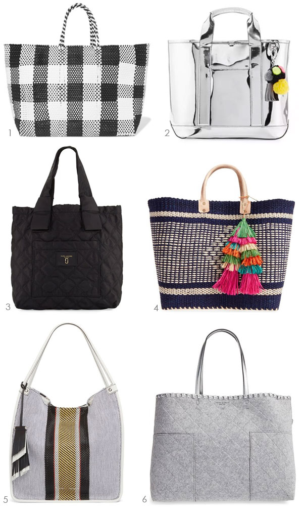 Looking for a Tote? Ridgely Brode finds 6 cute totes that will work with many different outfits and lifestyles on her blog Ridgely's Radar