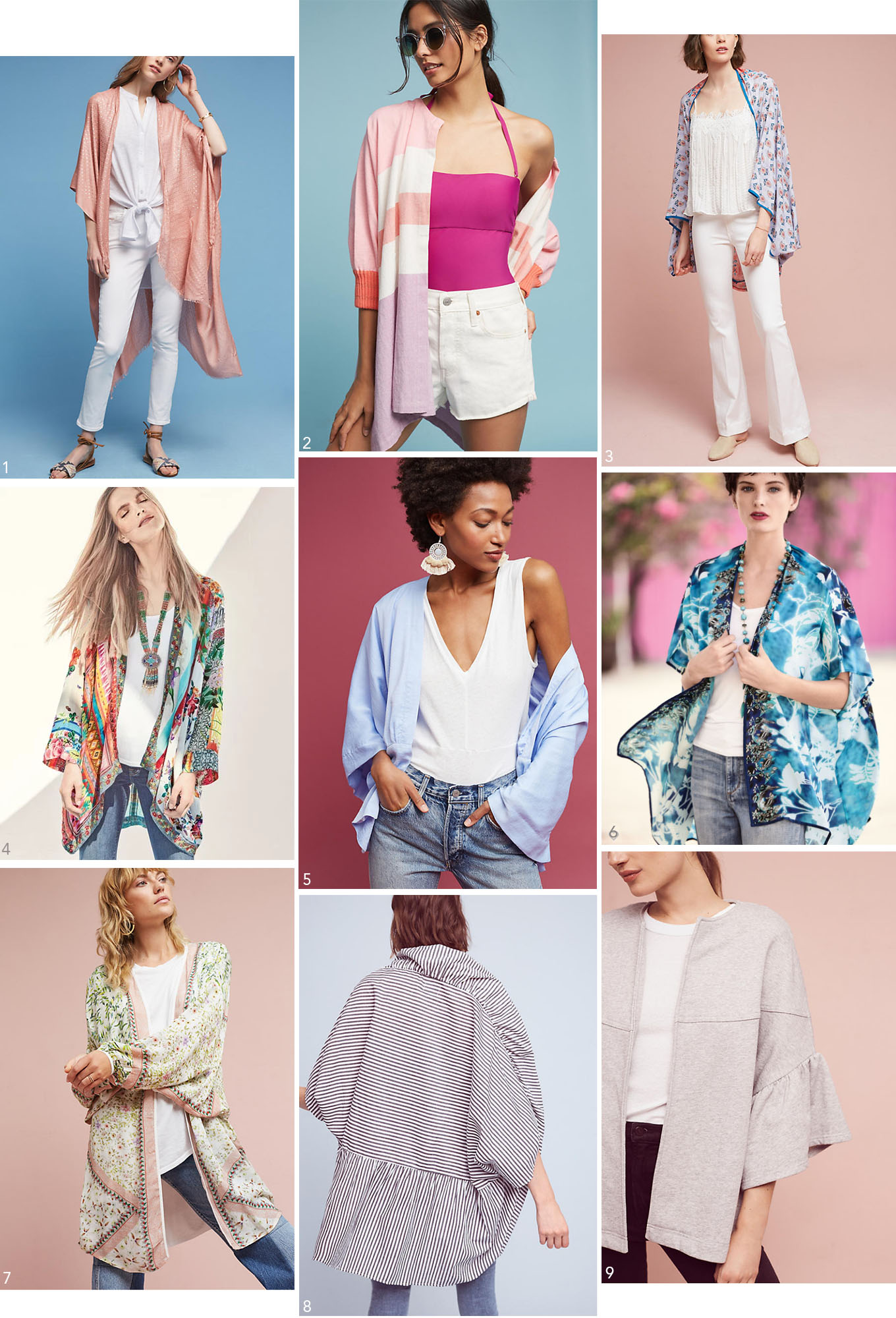 Ridgely Brode discovered Kimonos are not just for sleepwear and finds several she would like and shares them on her blog, Ridgely's Radar.